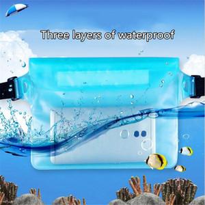 Mounchain Уличный водный спорт Fanny Pack для плавания Дайвинг 3-слойная герметичная водонепроницаемая сумка с сенсорным экраном
