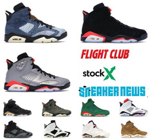 6s Homens tênis de basquete Lavado 6s Denim Jumpman Basketball Varsity Red Preto infravermelho 3M JSP reflexivo Sliver Sneakers Com Box