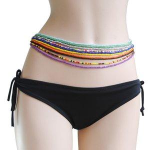 Catene 10pcs Boemia Doppia Bead pancia dei monili del corpo delle donne di estate della spiaggia del bikini sexy Catena Vita Strand fascini Vintage Cintura T200508