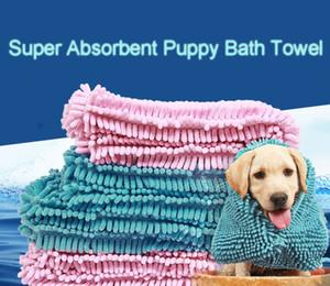 Fibra rápido secado de toallas baño de agua para mascotas absorbente estupendo del perrito de los perros Mat Manta Suave de baño del gato del molde práctica Prueba Easy Clean DH0320