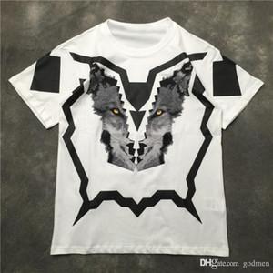 Cotone T Mens di alta qualità camicia Mens 3D della testa del lupo di stampa maniche corte Moda Donna Uomini Tees