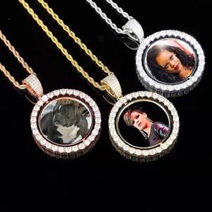 foto personalizada colar para fora congelada luxo designer pingente imagem de bling pingentes de diamantes família pet cão gato fotos colar de jóias presente de amor