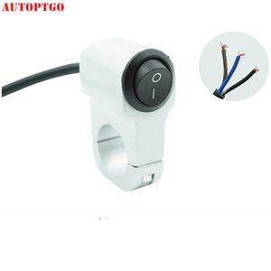 Aluminium Alloy Motorcycle Moto Refit Handlebar Push Button LED Headlamp Switch With Wire Lline For Honda Suzuki Kawasaki Yamaha