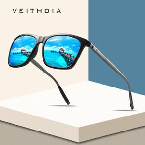 Veithdia Marka Unisex Retro Alüminyum + TR90 Kare Polarize Güneş Gözlüğü Lens Vintage Gözlük Aksesuarları Güneş Gözlükleri İçin Erkek / Bayan AJKIN