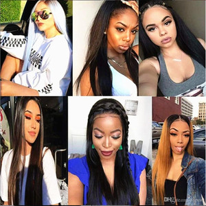 13X6 Lace Front Wigs Human Hair Straight for Black Women Brazilian Remy Hair Full Lace Wig Pre Plucked with Baby Hair Glueless