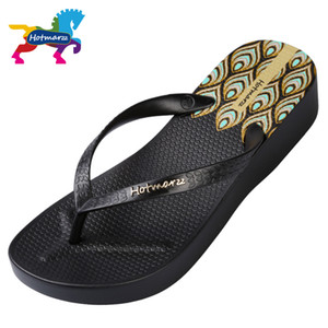 Hotmarzz Women High Heel Platform Flip Flops Wedges Slippers Ladies Summer Slippers Woman House Shoes Beach Thong Sandals