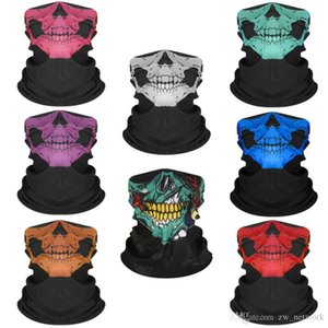 Random colors Seamless Hip Hop Skull Bandanas magic headscarf riding mask Tube Neck Face Headscarves Sport magic Headband Bandana