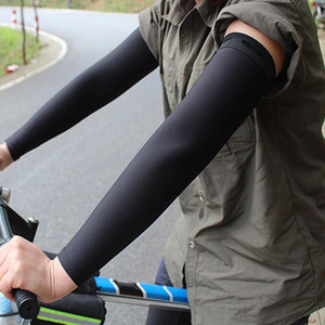 2pcs Professional Cycling Sleeves Arm Men Women Warmers Elbow Cooling Anti Slipping Sleeves Outdoor Black Sport Arm Sleeves New