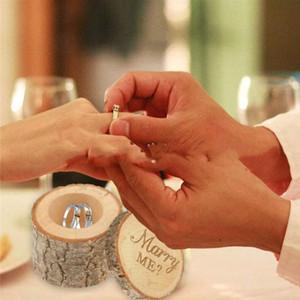Legno fai da te Box Wedding Ring Bearer boxex Carino piccolo regalo Box Novel Holiaday partito regalo WY439Q