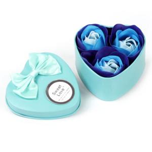 New Party Favors 3pcs presente do dia Presentes de casamento Rose Soap flor caixa de presente dos namorados para hóspedes Presente para Namorada do aniversário dos miúdos