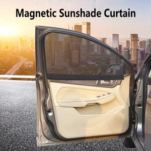 Cortina de sombra de sol magnética para coche Protección UV Cortina de coche Ventana de coche Sombrilla Ventana lateral Malla Visor de sol Protección de verano Ventana Película HHA163