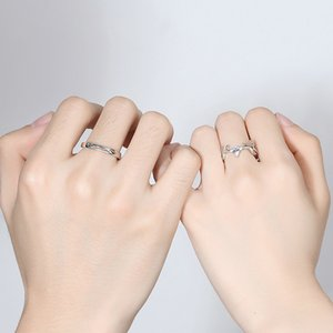 Wholesale-rings wedding rings sets luxury designer jewelry engagement rings for women 925 sterling silver ring diamond ring deer shape NE991