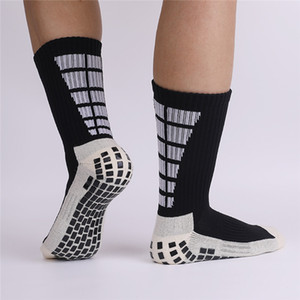 Professional Anti Slip Football Socks, Thickened Towel Bottom Sports Socks with Middle Tube Shock Reduce Adults 3Pairs