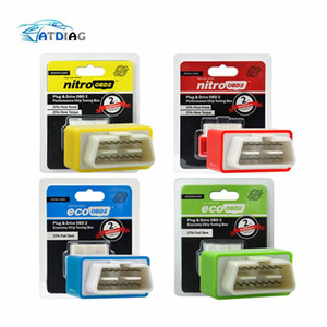 OBD2 coches Nitro Performance Tuning Chip Box NitroOBD2 OBD interfaz Plug and Drive Más potencia, más par motor para Obras coches diesel
