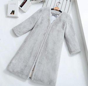 Brasão Moda feminina grosso casaco de pele Novo Produto espessamento imitação lã de carneiro Inverno Keep Warm Winter Jacket Quality Assurance