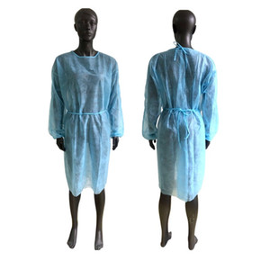 US Stock Waterproof Isolation Clothes Knits Protective Clothing Disposable Gowns One Time Non woven Fabric Breathable Protection Suits