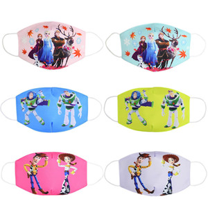 Anti-poussière visage bouche masque respiratoire réutilisable coton respirant protection enfants jouet pour enfants Cartoon PM2,5 mignon anti-poussière bouche Masque Visage