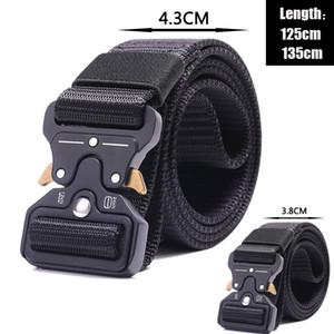 Cintura automatico Formazione Nylon Uomo Tactical Support cintura di alta qualità fibbia campeggio esterno Quick Release