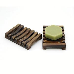 Saboneteira De Madeira do vintage Saboneteira De Madeira Pratos Bandeja De Armazenamento Titular Soap Rack Plate Box Recipiente para Banheira de Chuveiro Placa de Banho
