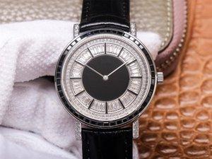 UU pieno di diamanti 41 millimetri * 9 millimetri di lusso orologio 1200p movimento orologio di design orologio vacchetta cinturino movimento meccanico automatico di diamante wa maschile