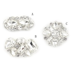 3Styles Women Rhinestone Flower Shoe Buckle Strass Crystal Decorations Clips Shoe Charms Crystal Shoe Clips Accessories