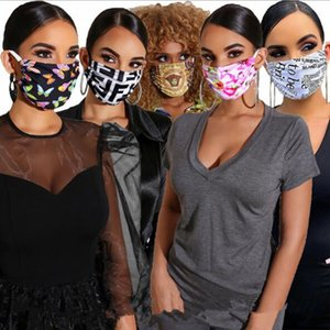 Branded Masks Nonwoven Fabric Designer Face mask Luxury Letter Sunproof Dustproof Cycling Sports Mouth Breathable Masks Washable more style