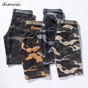 DIMUSI Mens Camo Cargo Shorts Summer Casual Cotton Camouflage Shorts Male Loose Work Man Breathable
