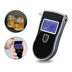 Mini portátil Digital Breath Alcohol Tester alcoholímetro LCD del detector del analizador práctico Aparcamiento Probador de alcohol Probador de alcohol Alcohol Policía