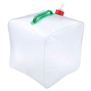 Water Container Home Portable Folding Bucket PVC Transparent Drip Outdoor Bag Hiking Camping 10L