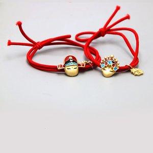 Китайский стиль серии Red Шиньон Творческий Пара браслет девушки диапазона волос с Nice Моральный Модные аксессуары для волос
