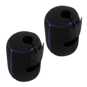 2x Neoprene Fishing Reel Wheel Storage Bag Protective Cover Case Pouch Black