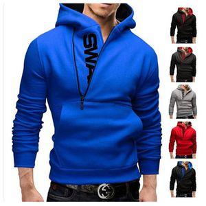 Hombres sudadera con capucha ropa ropa nueva Fanshion de la cremallera con capucha Letters famoso de la marca para hombre jerséis con capucha de manga larga sudaderas