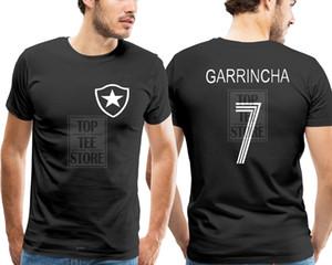 Garrincha Футболка Бразилия Ботафого Футболист Легенда Camiseta Soccerer Пеле Печать Футболка Летний Стиль Топ Тройник