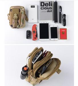 Haute qualité unisexe Outdoor Sport Casual tactique Passants Sac de taille Molle taille militaire Fanny pack Smartphone téléphone portable Case