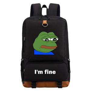 All'ingrosso-Sad rana sto bene divertente corsa della spalla zaino sacchetto di scuola per gli adolescenti Bookbag casuale Borse per notebook Zaino