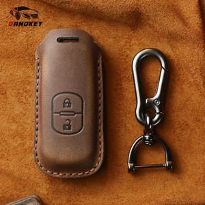 Dandkey Genuine Leather Key Case Cover For 2 3 5 6 8 CX5 CX7 CX9 GT M3 M5 M6 M8 Atenza Axela Key Shell Skin Bag