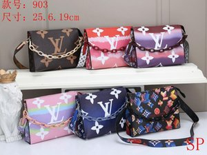 The new fashion one-shoulder printed bag