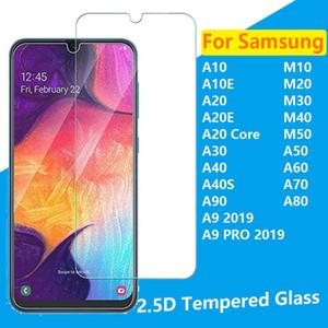 2.5D Temperli Cam telefonu koruyucu için Samsung M10 M20 M30 M40 M50 A10 A10E A20E A20 Çekirdek A30 A40 A40 A40S A50 A60 A70 A80 A90 A9 PRO 2019
