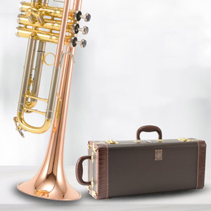 Genuine Bach LT197GS-77 B flat Trumpet Bronze Phosphorus copper instrument professional Trumpet Free shipping