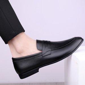 2020 Mens Formal Shoes Genuine Leather Tassel Loafers Men Black Dress Shoes Wedding party men Slip On Leather moccasins