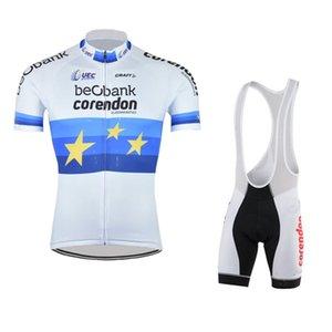 SPTGRVO LairschDan White CORENDON-CIRCUS TEAM Quick Dry Cycling Jersey Short Set Men's Bike Clothing Bib Shorts MTB Cycling Wear