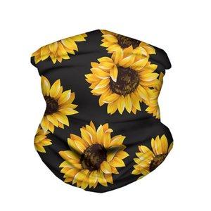 Sunflower flag Seamless Bandanas magic headscarf riding mask Tube Neck Face Headscarves Sport magic Headband Bandana