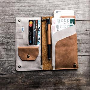 2018 Handmade Travel Обложка для паспорта из натуральной кожи Real Driver License мешок кредитной карты держатель кошелек кошелек чехол для мужчин женщин CJ191219