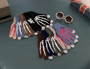 قفاز الكورية الخريف والرجال والنساء الحياكة قفازات شاشة اللمس شخصية الطباعة القفازات قفازات دافئة شتاء EEA223