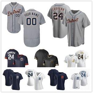 Detroit 2020 Kaplanlar Brandon Dixon Ronny Rodriguez, John Hicks Miguel Cabrera Goodrum Castellanos Jones Beyzbol forması Erkekler Kadınlar Gençlik 05