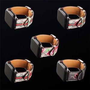 iwatch Series4321 럭셔리 팔찌 진짜 가죽 스트랩의 38mm에서 42mm 애플 시계 시리즈 5 디자이너 시계 밴드 40mm의 44mm 손목 시계의 경우
