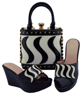 2018 Hot sale African Shoe and Bag Set Best Price for Nigeria Wedding Shoe and Bag in Elegent occasion