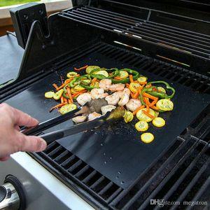 도구 요리 붙지 않는 BBQ 그릴 매트 바베큐 베이킹 매트 라이너 테플론 내열 로스트 그릴 매트를 들어 파티 재사용