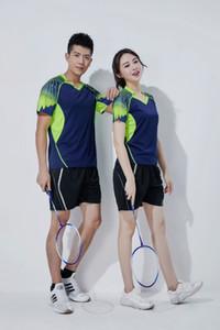 Nuovo stile Quick-Dry Volano Abbigliamento Suit uomini e le donne-manica corta Ping-Pong Tennis Coppie Maglia Gara all'aperto giacche con cappuccio