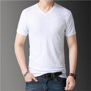 LuxuxMens Designer Tshirts feste kurze Hülse mit V-Ausschnitt Breath Tees Art und Weise neuer Mens-Sommer-Tops